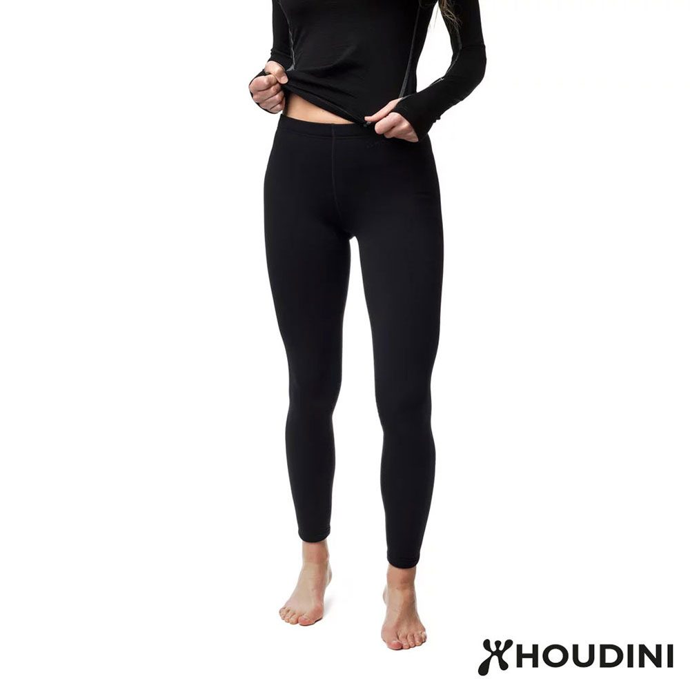 HOUDINI  W's Long Power Tights 刷毛緊身褲 女款 純黑
